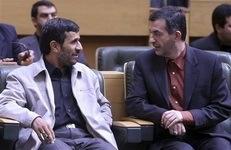 Махмуд Ахмади-Нежад и Эсфандияр Рахим Машаи