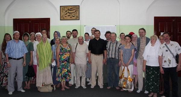 Студенты  Свято-Филаретовского православно-христианского института c муфтием ДУМСО